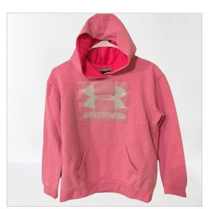 Pink Under Armour snuggly hoodie - L